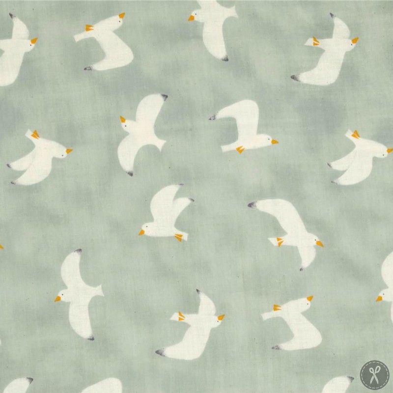 Seagull Double Gauze Fabric - Teal