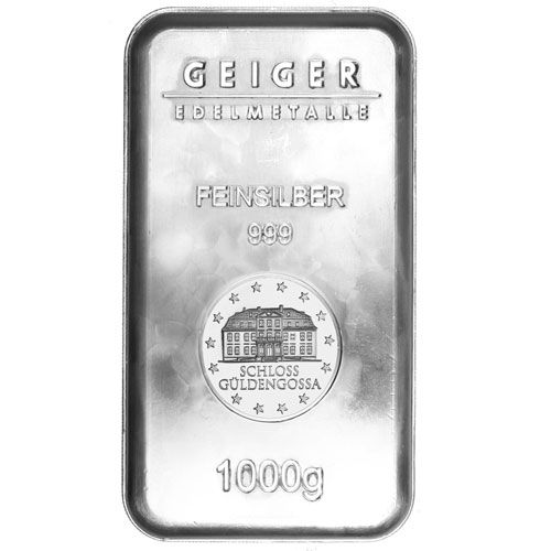1 Kilo Geiger Security Line Silver Bar New Silver Bars Silver Bullion Silver