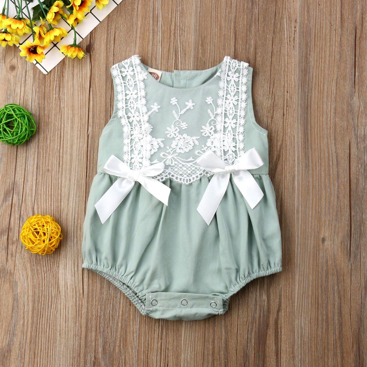 bed2b913d17 Online Shop 2019 New Infant Newborn Baby Girls Clothing Lace Ruffles  Rompers Jumpsuit Cute Bow Sunsuit