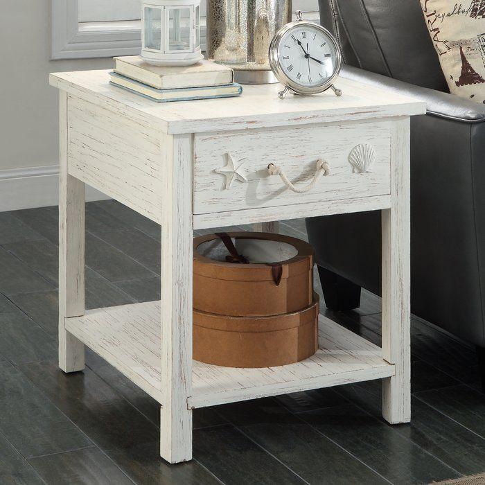 dudek end table with storage beach house ideas pinterest end rh pinterest com
