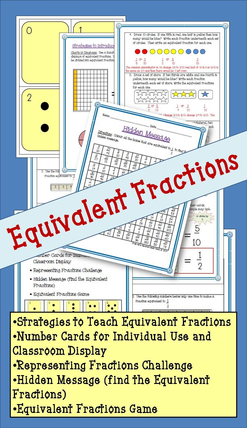 Do You Have Students That Struggle With Equivalent Fractions Try This Resource To Support Knowl Equivalent Fractions Fractions Equivalent Fractions Activities [ 1700 x 982 Pixel ]