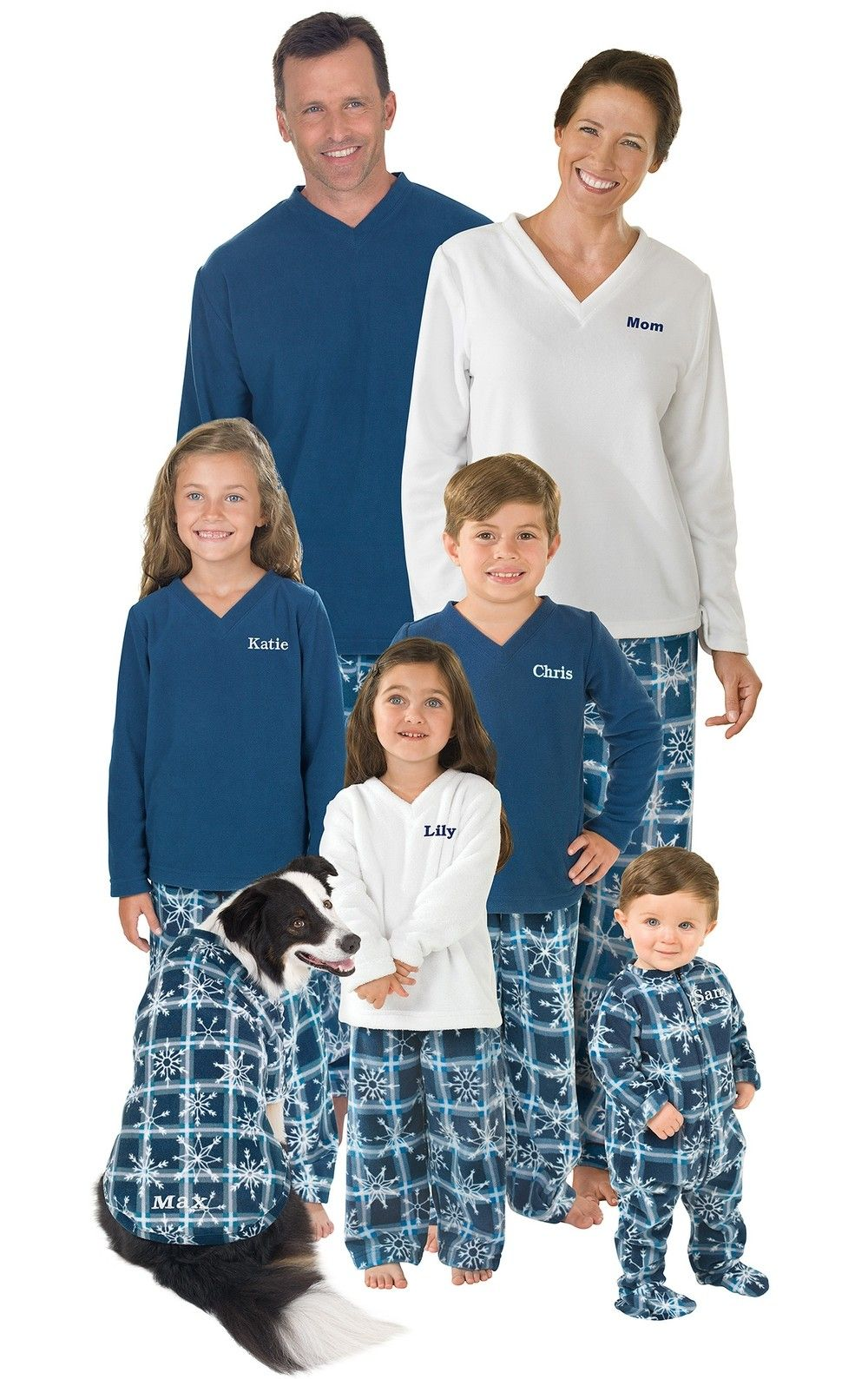 2dffbf4c43 Snowflake Fleece Matching Family Pajamas