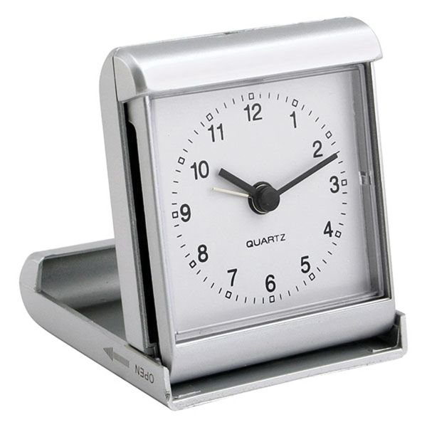 Travel Analog Clock Slide And Fold Quartz Analog Travel Alarm