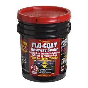 Sakrete Premium Flo Coat Driveway Sealer With Images Driveway Sealer Concrete Coffee Cans