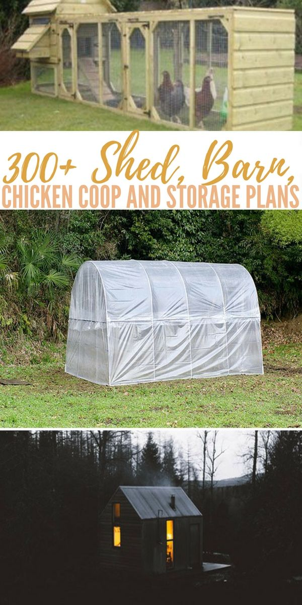 300 shed barn chicken coop and storage plans plus more rh pinterest com