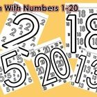 These math worksheets include 20 different worksheets using the numbers 1-20. Each worksheet has one large number in the middle of the sheet and a ...