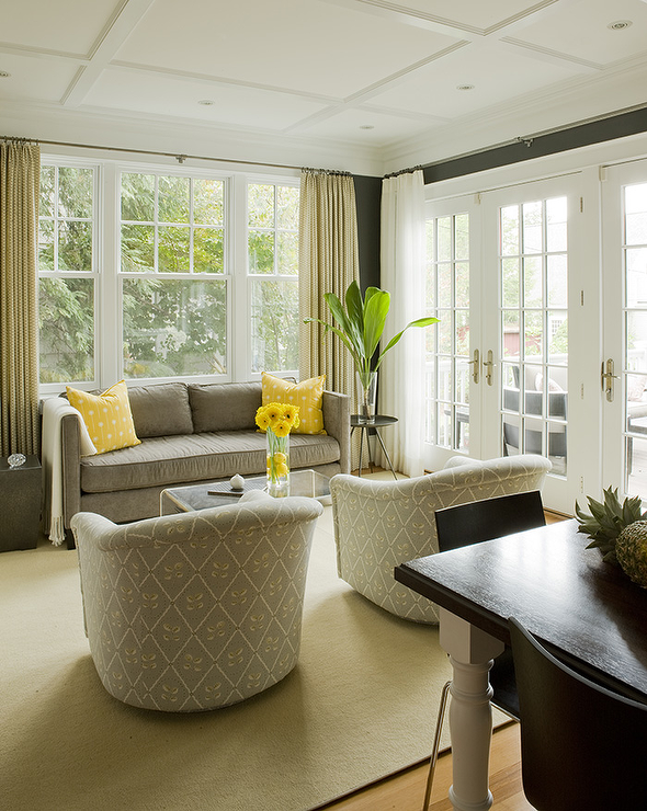 Yellow And Gray Living Room Transitional Living Room Liz Levin Interiors Gray Living Room Design Living Room Grey Traditional Family Rooms #taupe #and #gray #living #room