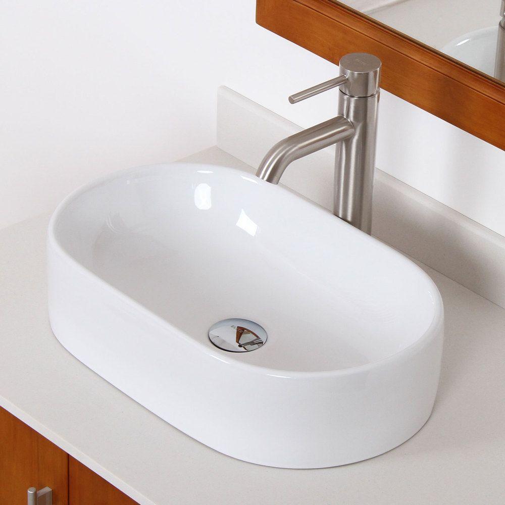 elite high temperature grade a ceramic oval bathroom sink faucet rh pinterest ca