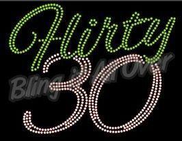 30th birthday bling shirt  #blingitallover #bling #customshirts #rhinestones #birthday www.facebook.com/blingitallover