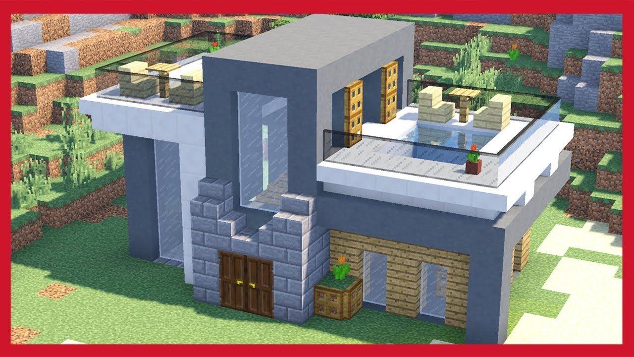 Case Moderne Minecraft : Minecraft come costruire una piccola casa moderna tutorial