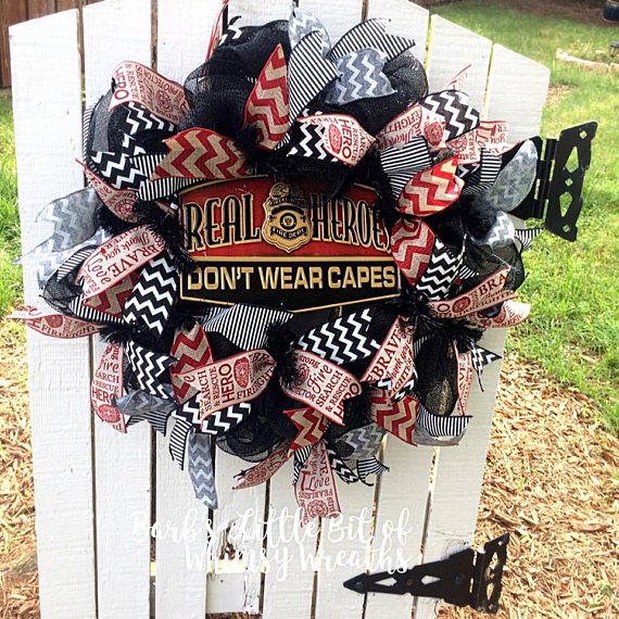 sale firefighter wreath firehouse wreath fire department real rh pinterest com