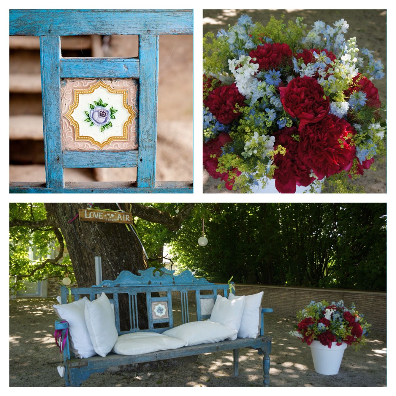 Wedding ceremony bench