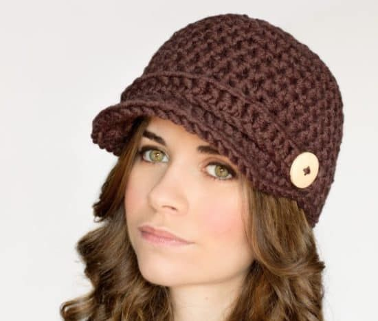 Crochet Newsboy Cap Free Pattern | Gorros