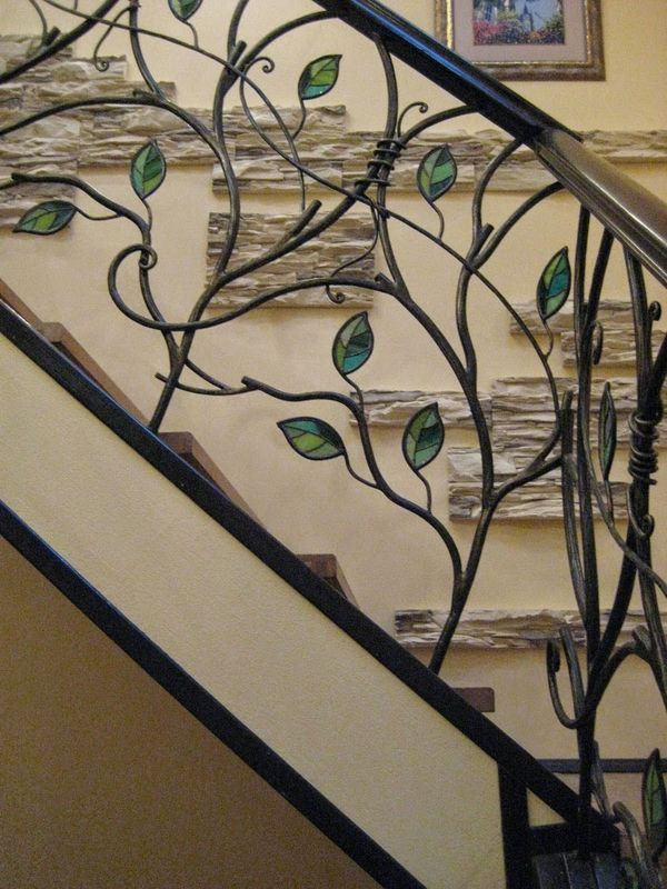 Unique Wrought Iron Banister Ideas Inspired By Nature Wrought