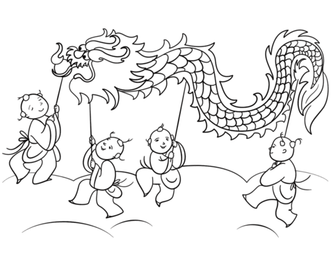 Chinese New Year Lion Dance Coloring Page Free Printable Lion Dance Jpg 612 79 Dance Coloring Pages Lion Coloring Pages Dancing Drawings