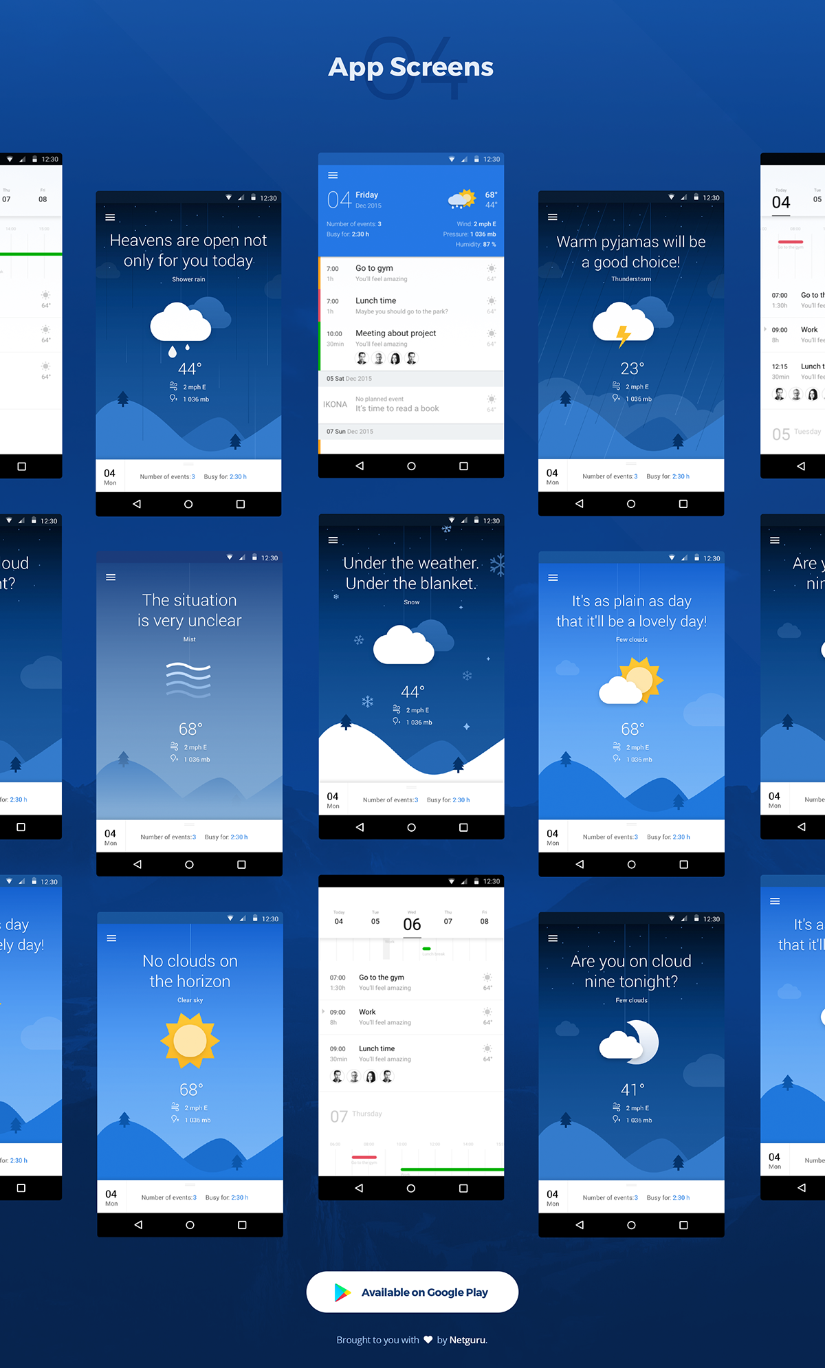 CoolCal simple and easytouse weather calendar on