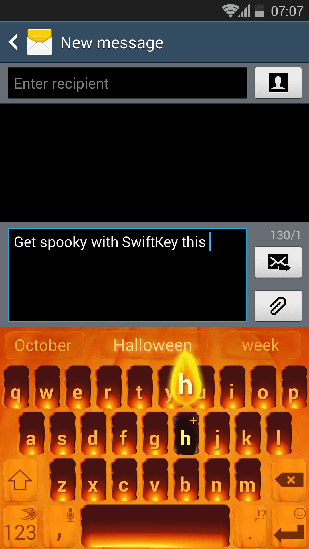 Discover our Jack O'Lantern theme for your Android Keyboard this Halloween!