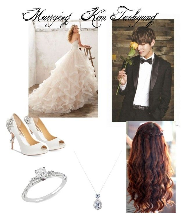 Getting Married To Kim Taehyung By Karla71331 Liked On Polyvore Featuring Badgley Mischka Mon Cheri And Ice Getting Married Clothes Design Wedding Outfit