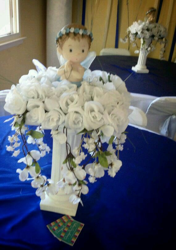 pin by maria villanueva on boy baptism centerpieces baptism rh pinterest com