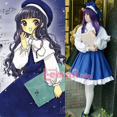 Card-Captor-Sakura-Daidouji-Tomoyo-Uniform-Dress-Cosplay-Costumes-Whole-Set