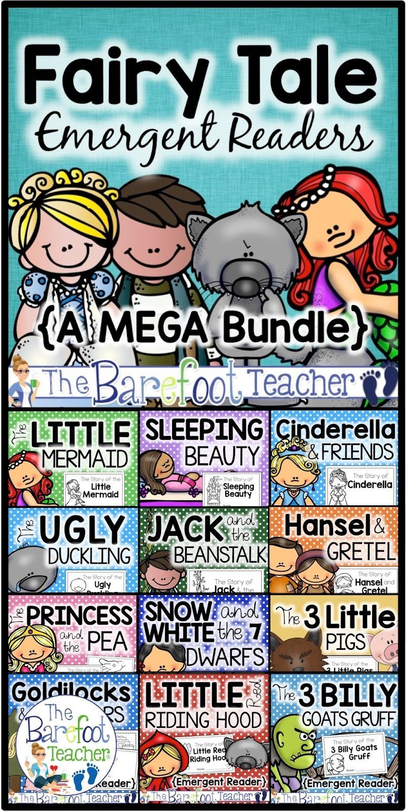 Fairy Tale Emergent Readers - Plus a FREE DOWNLOAD-#download #emergent #fairy #Free #readers #Tale