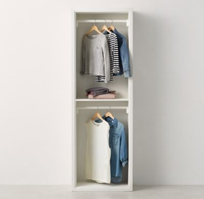 Classic Modular Closet System Hanging Storage