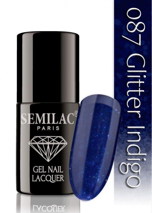 Semilac 087 Glitter Indigo UV&LED Nagellack. Auch ohne Nagelstudio bis zu 3 WOCHEN perfekte Nägel!