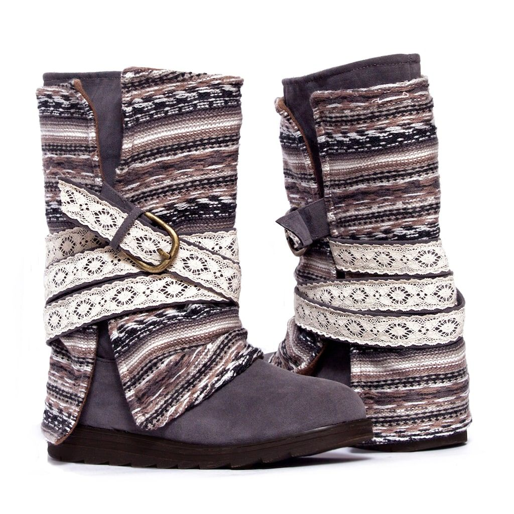 MUK LUKS Nikki Women's ... Fold-Over Midcalf Boots evgr9LG