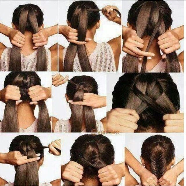easy fishtail braid tutorial hairstyles pinterest