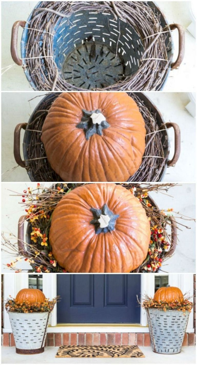 45 Most Awesome Fall Front Porch Decor Ideas For Your Home 026 #falldecorideasfortheporch