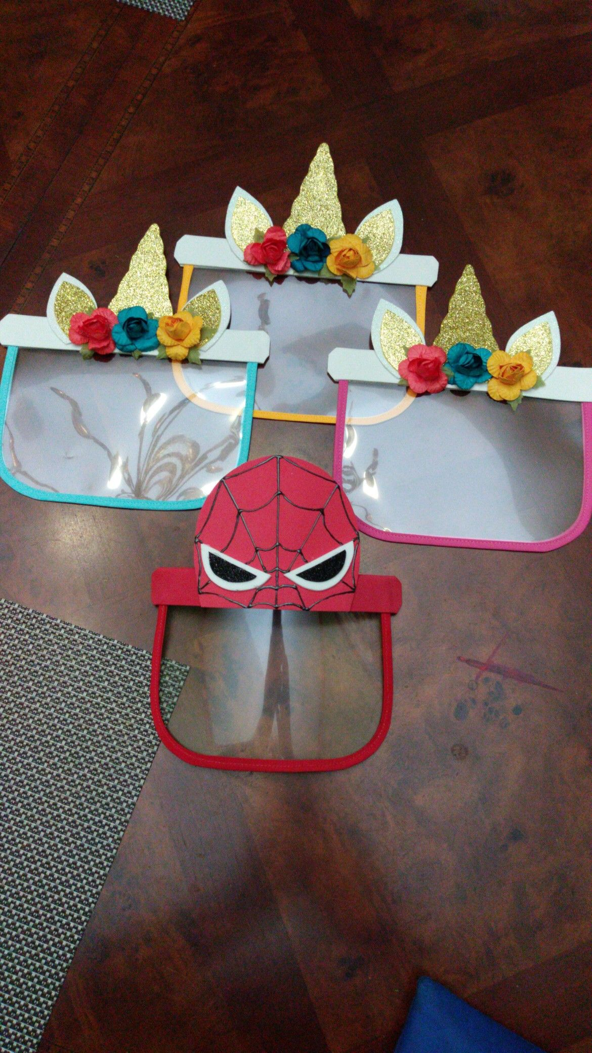 SpiderMan face shield (children) SpiderMan Careta de