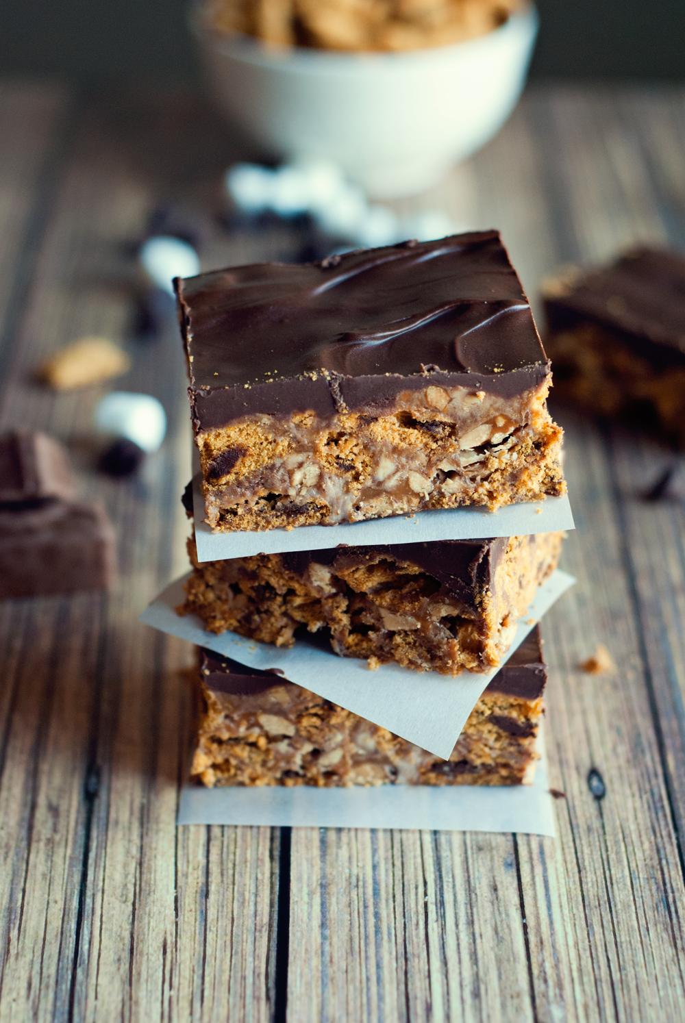 Snickers Cereal Bars Dessert Recipe
