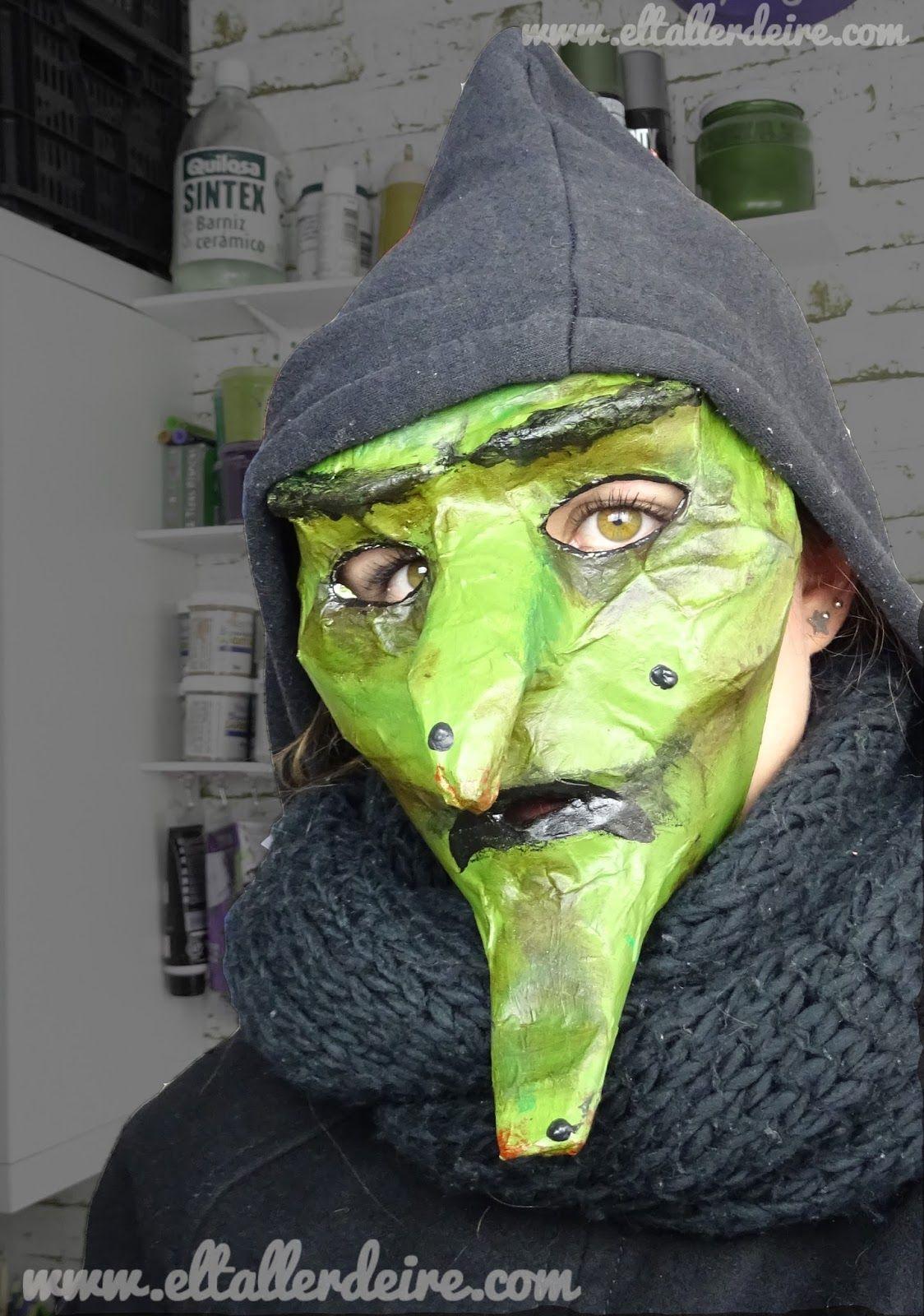 El taller de Ire: Cómo hacer una máscara de bruja para Halloween ...