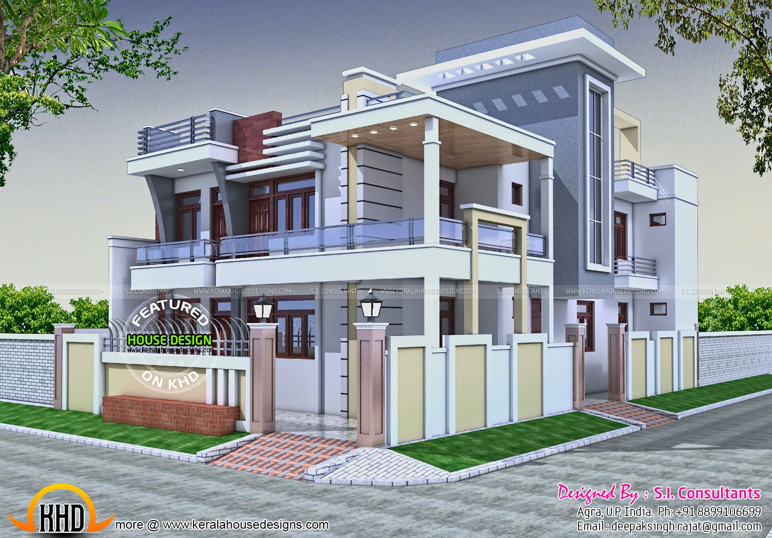 Presenting a superb colonial style inspiring houses design at an area of 3000 sq this great design is from kerala studio these design comprises of several