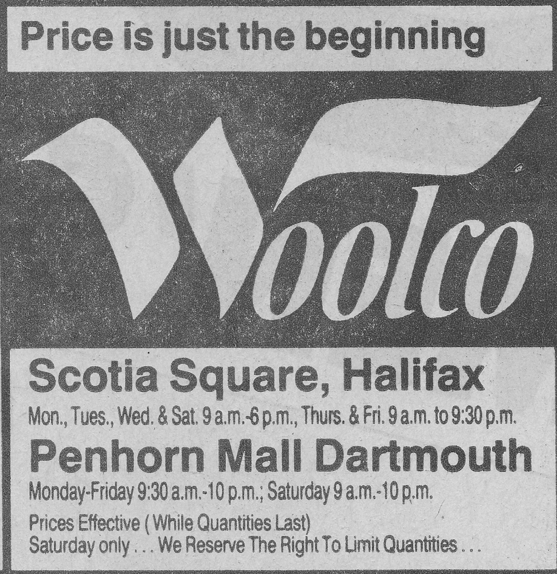 Crib for sale halifax - Woolco Ad 1990 Scotia Square Penhorn Mall Halifax Dartmouth Nova Scotia