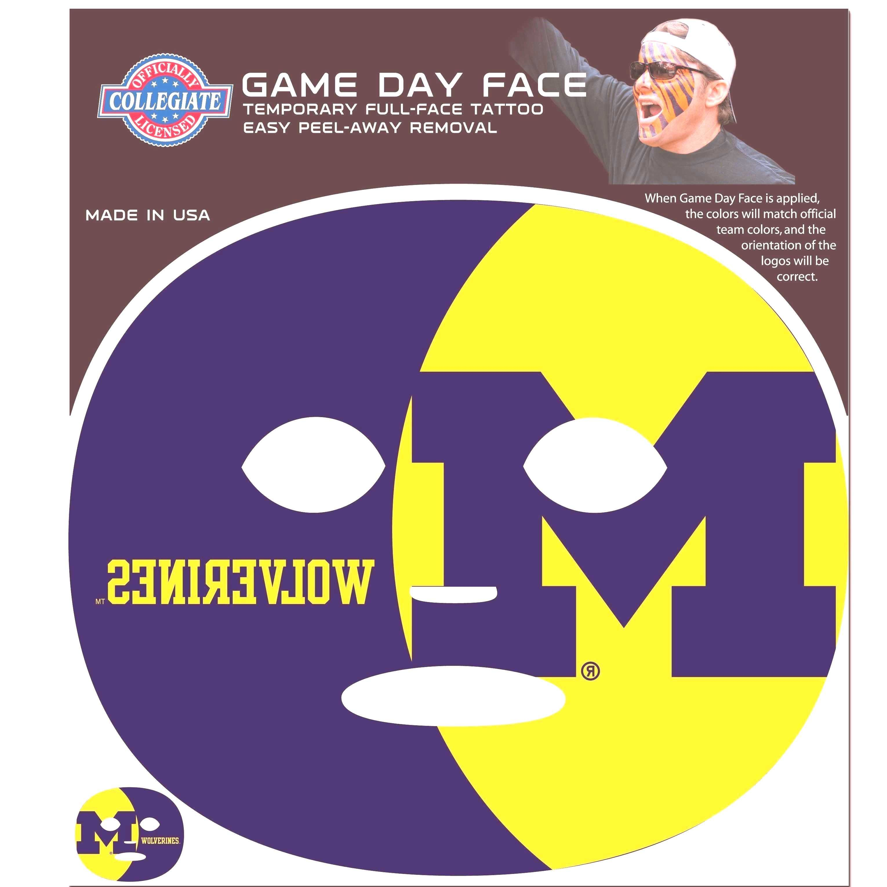 NCAA - Michigan Wolverines game face tattoo -...You can find Wolverines and more on our website.NCA
