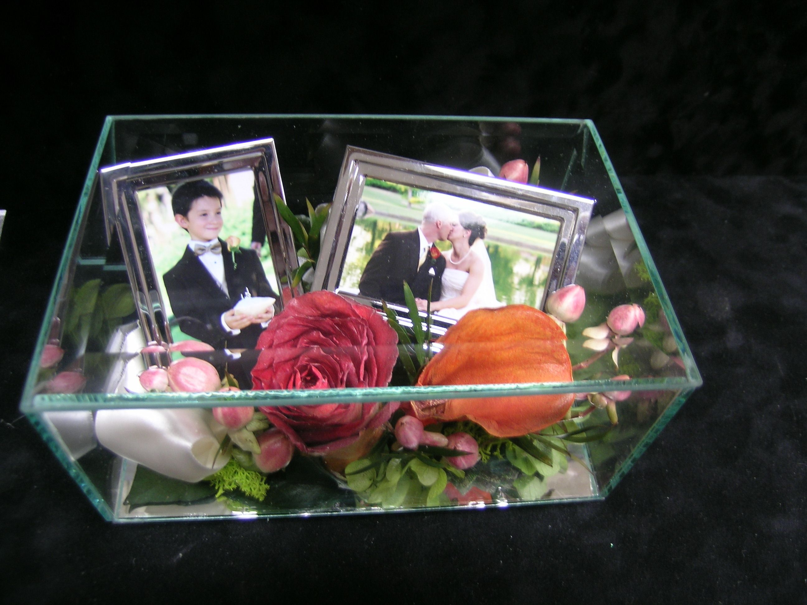 Preserved Flowers In A Glass Case