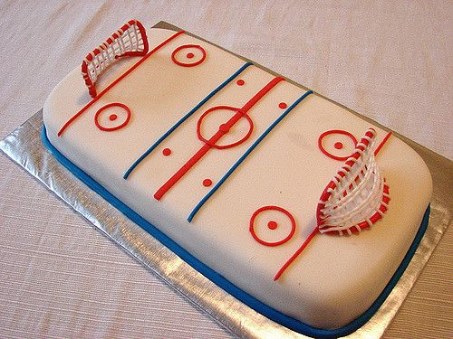 Excellent Hockey Rink With Images Hockey Cakes Hockey Birthday Cake Personalised Birthday Cards Cominlily Jamesorg