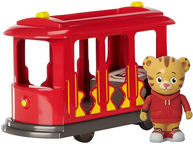Amazon Com Daniel Tiger S Neighborhood Trolley With Daniel Tiger Figure Single Toys Games Daniel Tiger Daniel Tiger S Neighborhood Cool Toys