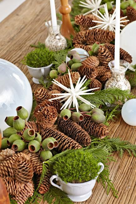 Nature Inspired Christmas Decorations Christmas Table Decorations Christmas Centerpieces Diy Christmas Centerpieces