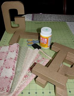 Fabric covered cardboard letters i can pretend to be for How to cover cardboard letters with fabric