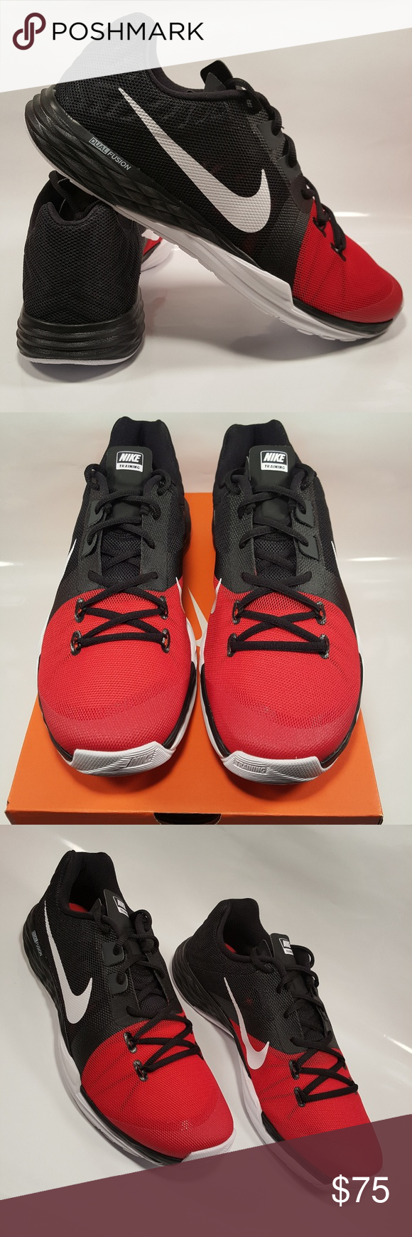 Shop Men's Nike Black Red size Athletic Shoes at a discounted price at  Poshmark. Description: Nike Prime Iron Dual Fusion Training Shoes men's  size Sold by ...
