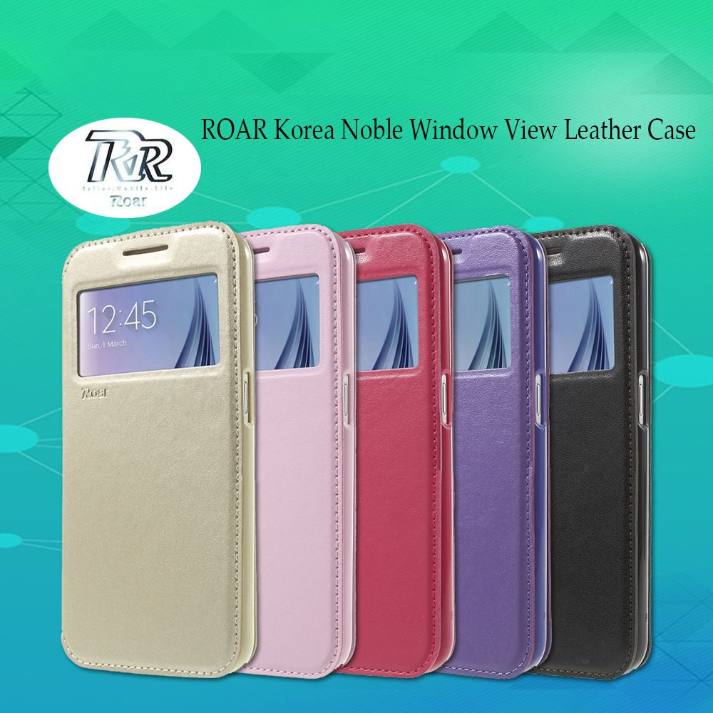 Roar Korea Noble View Window Leather Flip Cover Wallet Case For Samsung Galaxy A3 2016 A310 A310f Case Mobile Phone Coque Samsung Leather Case Mobile Phone Bag