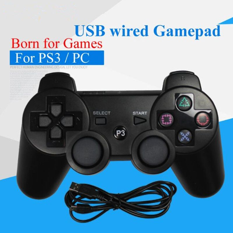USB Wired Gamepad For PS3 Controller Dualshock Sony