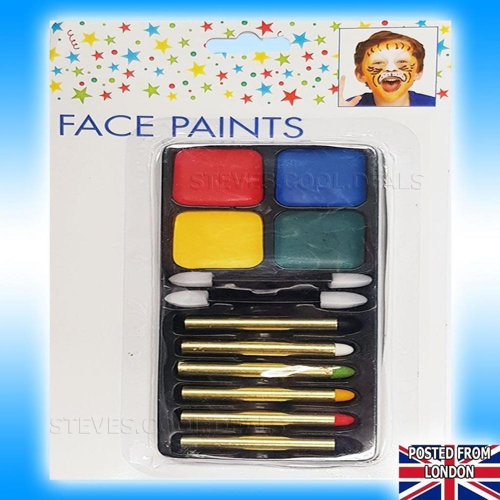 Details about UK SAFE FACE PAINTS PAINTING SET KIDS DRESS