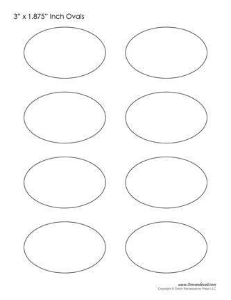 photograph regarding Oval Printable known as printable oval templates Artwork Various Baby artwork