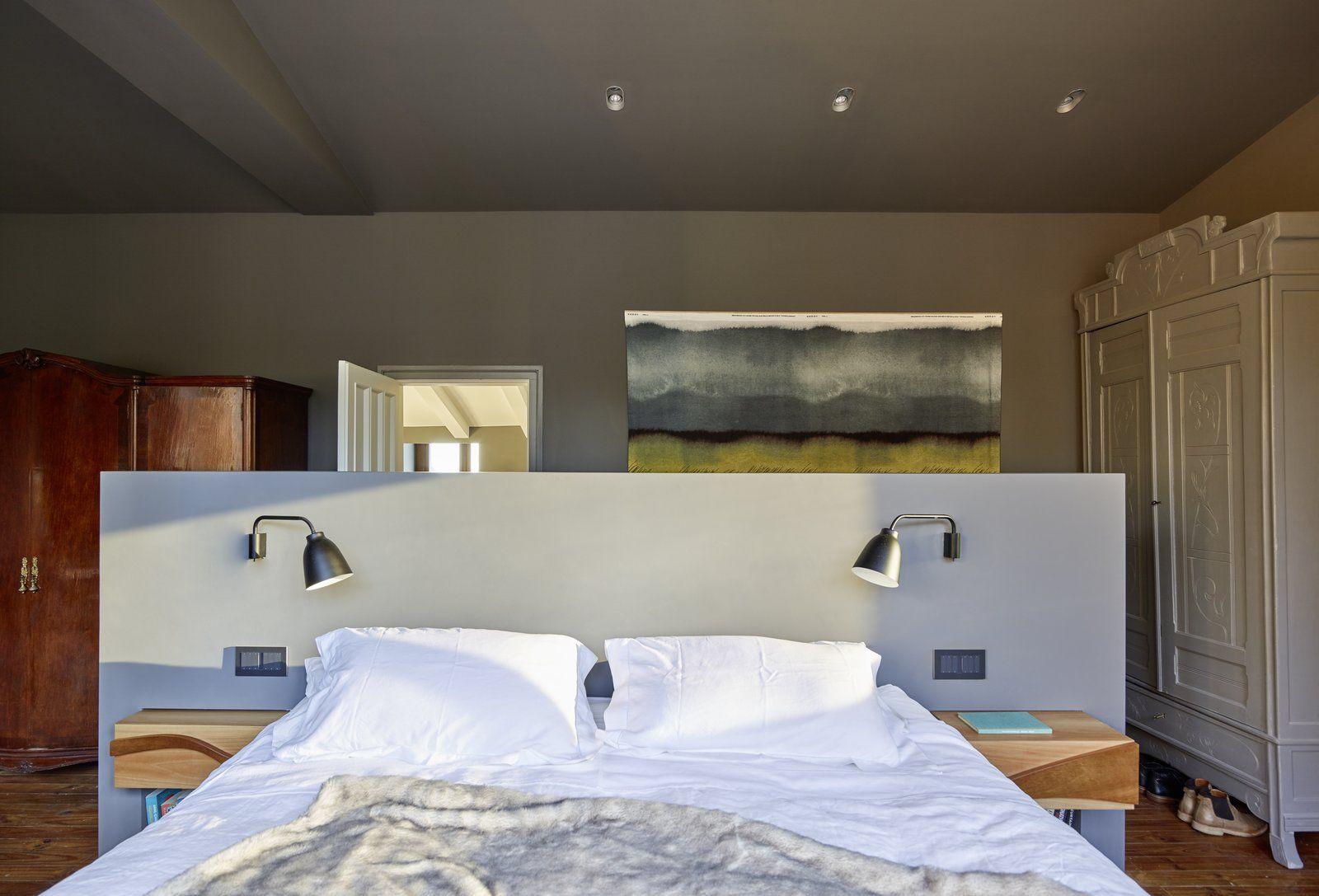 Modern home with bedroom medium hardwood floor dresser wardrobe