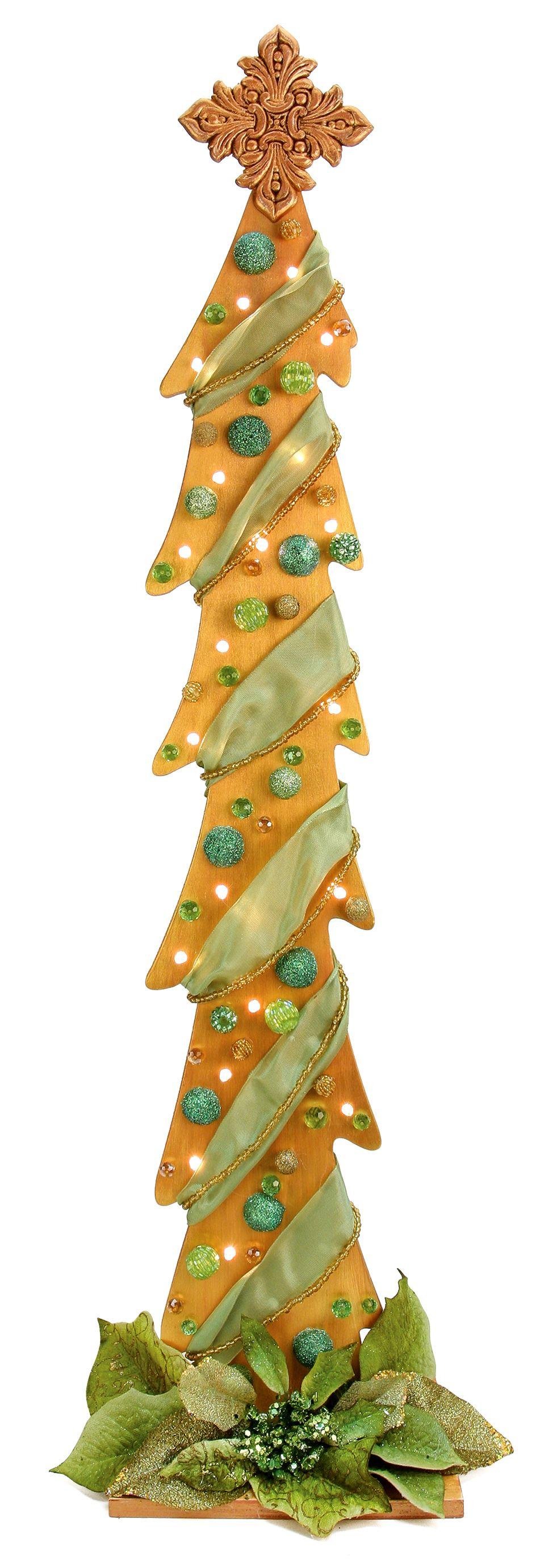 Nicole Crafts Metallic Tall Tree #Christmas #Craft