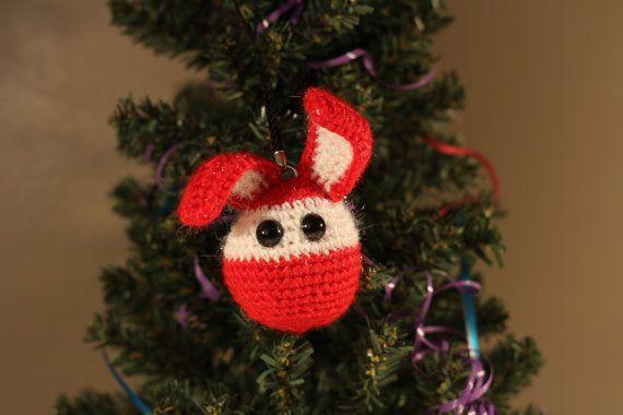 Décoration de sapin de Noël lapin au crochet, €9.00