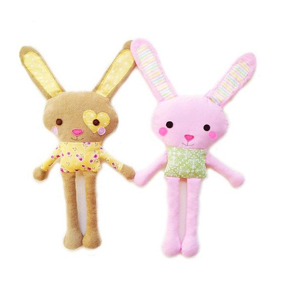 Bunny Sewing Pattern - Mini Plush Toy Bunny Pattern - PDF | sewn ...